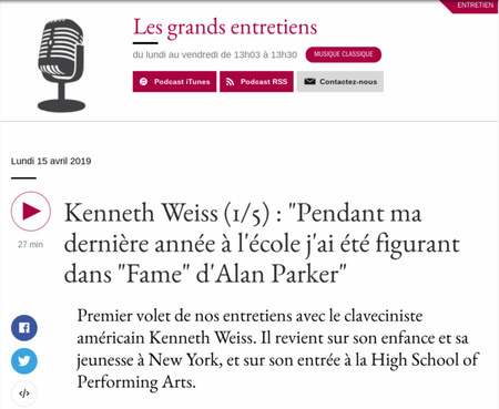 Kenneth Weiss Grands Entretiens